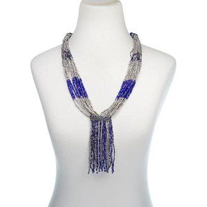 "Himalayan Gems ""Kinaara"" Blue Tassel 23"" Necklace"
